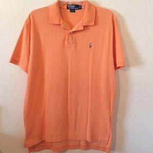Ralph Lauren Polo Pima Cotton Shirt M Orange EUC